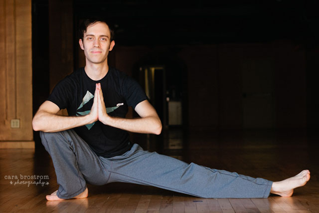 male yoga instructor