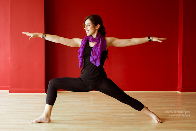 virabhadrasana yoga warrior II pose warrior B