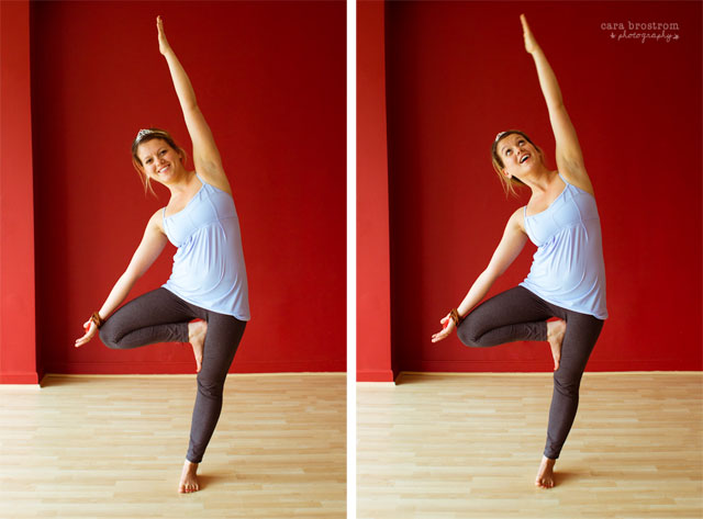 yoga tree pose variation vrksasana tiara
