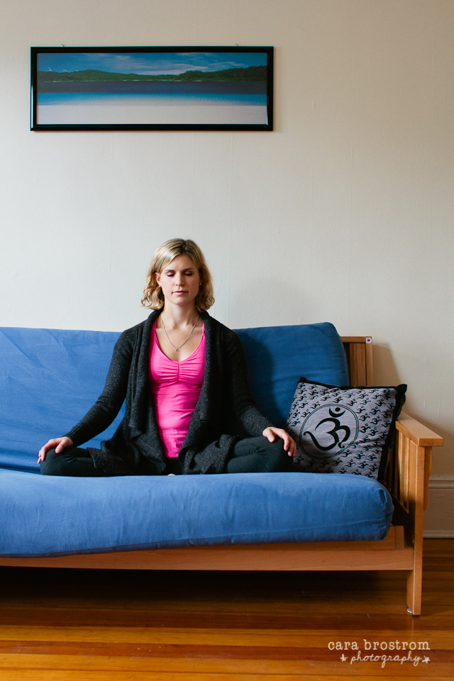 calm girl meditation home yogi