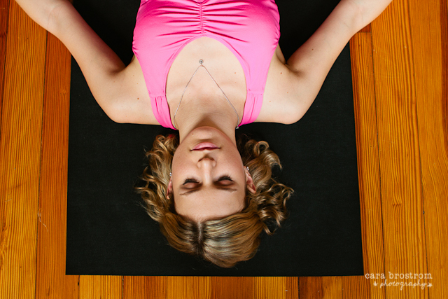 girl in savasana relax calm