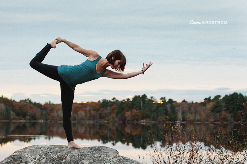 Natarajasana yoga photography Kate Krumsiek Fall Autumn lake inspiring