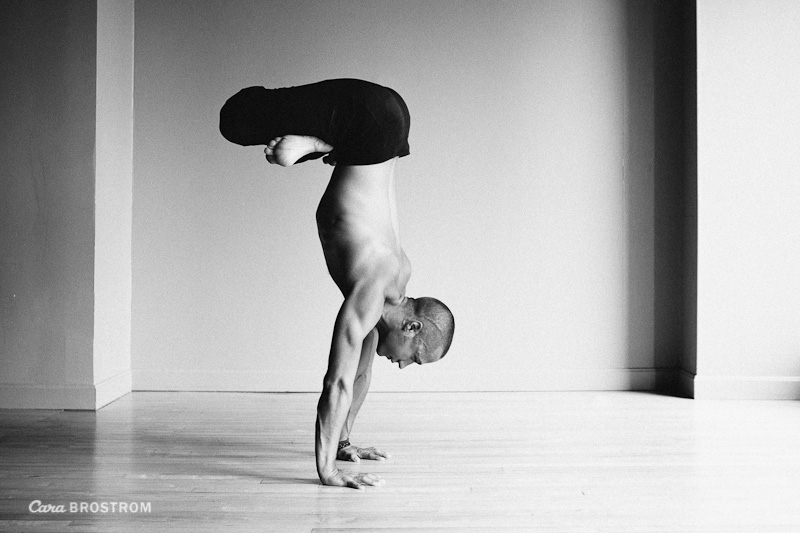 padmasana variation strong man fit black and white yoga photography Daniel Steel